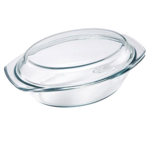 plat four et micro onde en verre ovale avec couvercle de 1 5 litre ustensiles de cuisine. Black Bedroom Furniture Sets. Home Design Ideas