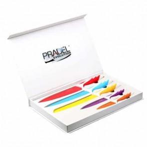 Coffret couteaux - 5 pcs - revêtement couleur multicolor - Pradel Evolution