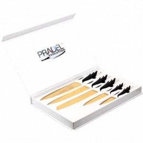 Coffret Couteaux - 5 pcs - revêtement titane - noir et blanc - Pradel Evolution