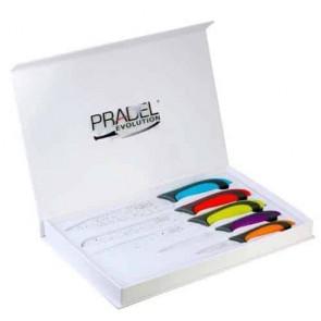 Coffret Couteaux - 5 pcs - revêtement Pierre Blanche - multicolore - Pradel Evolution