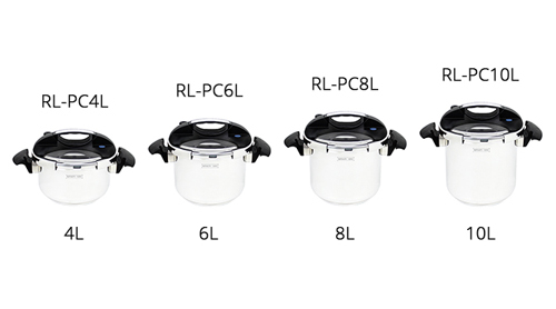 Type de casserole 4-6-8-10 litres